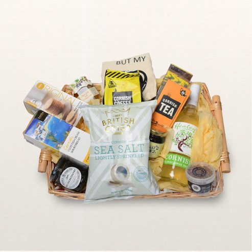 Camel Food & Drink Hamper On Silk background