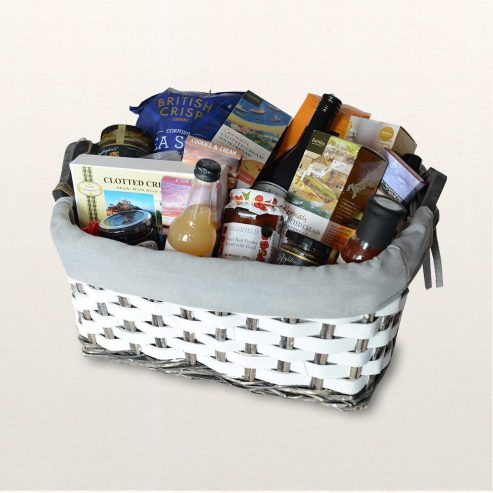 Moors Food & Drink Hamper On Silk background